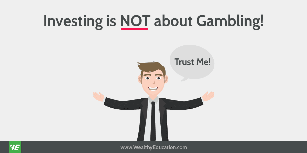 investing not about gambling