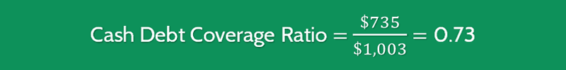 Cash Debt Coverage Ratio Calculation