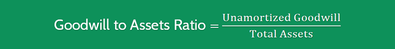 Goodwill to Assets Ratio Formula