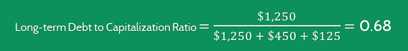 Long term Debt to Capitalization Ratio Calculation 1