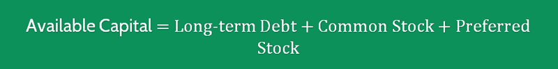 Long term Debt to Capitalization Ratio Formula 2