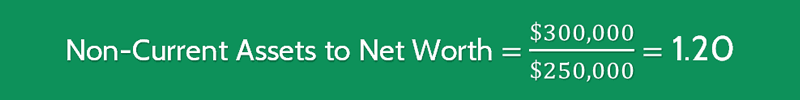 Non-Current Asset to Net Worth Calculation 2