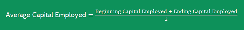 Return on Average Capital Employed Formula 6