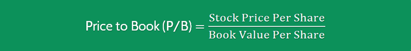 Price to Book Value Ratio Formula 1 (PB)