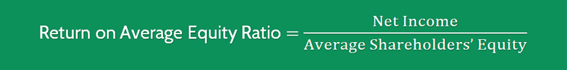 Return on Average Equity Ratio Formula